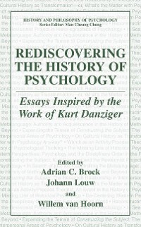 Cover Rediscovering the History of Psychology