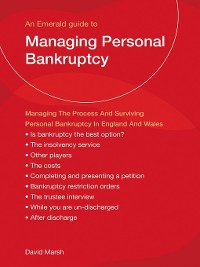 Cover Managing Personal Bankruptcy