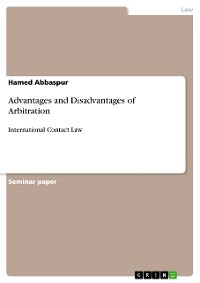 Cover Advantages and Disadvantages of Arbitration