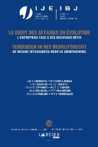 Cover De nieuwe uitdagingen voor de onderneming/ l'entreprise face à ses nouveaux défis