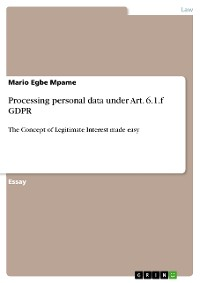 Cover Processing personal data under Art. 6.1.f GDPR