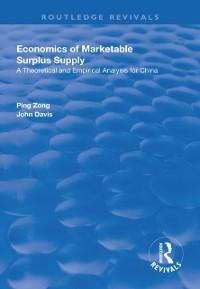 Cover Economics of Marketable Surplus Supply