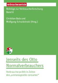 Cover Beiträge zur Verbraucherforschung Band 8 Jenseit des Otto Normalverbrauchers