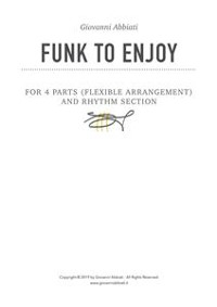 Cover Funk to Enjoy for 4 parts (flexible arrangements) and Rhythm Section
