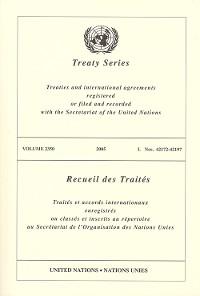 Cover Treaty Series 2350/Recueil des Traités 2350