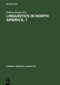 Cover Linguistics in North America, 1