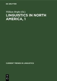Cover Linguistics in North America, 1