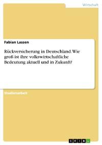 Cover Rückversicherung in Deutschland. Wie groß ist ihre volkswirtschaftliche Bedeutung  aktuell und in Zukunft?