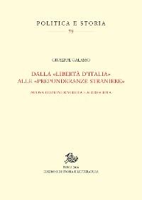 Cover Dalla «libertà d'Italia» alle «preponderanze straniere»