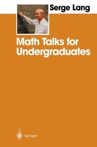 Cover Math Talks for Undergraduates