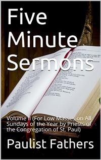 Cover Five-minute Sermons for Low Masses on All Sundays Of The Year, Volume II