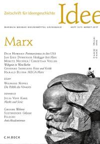 Cover Zeitschrift für Ideengeschichte Heft XI/3 Herbst 2017