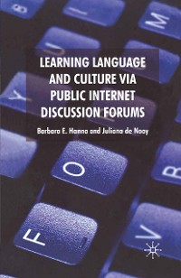 Cover Learning Language and Culture Via Public Internet Discussion Forums