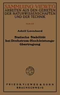 Cover Statische Stabilitat bei Drehstrom-Hochleistungsubertragung