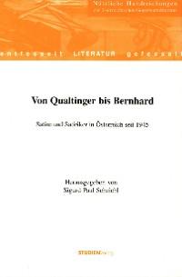 Cover Von Qualtinger bis Bernhard