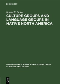 Cover Culture Groups and Language Groups in Native North America