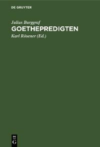 Cover Goethepredigten