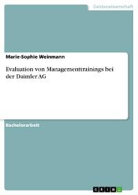 Cover Evaluation von Managementtrainings bei der Daimler AG