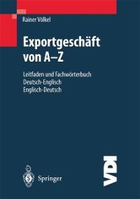 Cover Exportgeschaft von A-Z