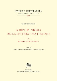 Cover Scritti di storia della letteratura italiana