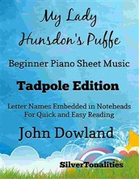 Cover My Lady Hunsdon's Puffe Beginner Piano Sheet Music Tadpole Edition