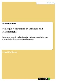 Cover Strategic Negotiation in Business and Management