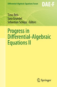 Cover Progress in Differential-Algebraic Equations II