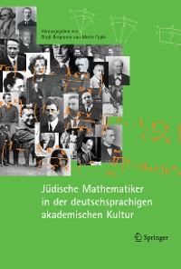 Cover Jüdische Mathematiker in der deutschsprachigen akademischen Kultur