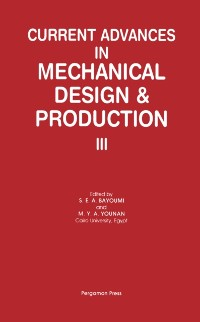 Cover Current Advances in Mechanical Design & Production III