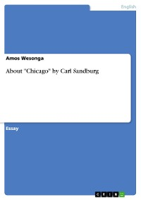 "Cover About ""Chicago"" by Carl Sandburg"