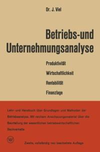 Cover Betriebs- und Unternehmungsanalyse