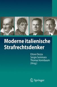 Cover Moderne italienische Strafrechtsdenker