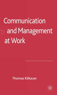 Cover Communication and Management at Work