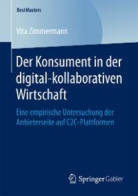 Cover Der Konsument in der digital-kollaborativen Wirtschaft