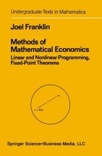 Cover Methods of Mathematical Economics