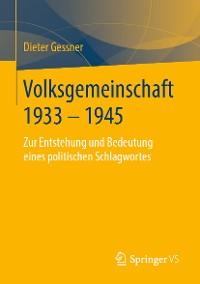 Cover Volksgemeinschaft 1933 - 1945