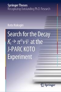 Cover Search for the Decay K_L → π^0\nu\bar{\nu} at the J-PARC KOTO Experiment