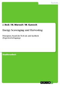 Cover Energy Scavenging und Harvesting
