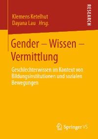 Cover Gender – Wissen – Vermittlung