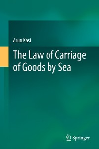 Cover The Law of Carriage of Goods by Sea