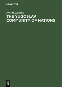 Cover The Yugoslav community of nations