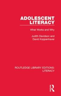 Cover Adolescent Literacy