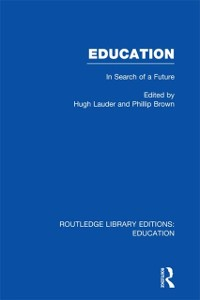 Cover Education  (RLE Edu L Sociology of Education)