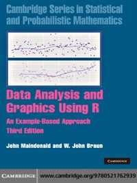 Cover Data Analysis and Graphics Using R