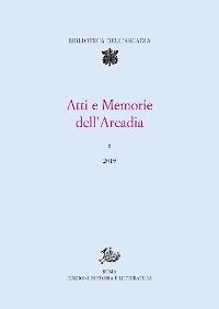 Cover Atti e Memorie dell'Arcadia, 8 (2019)