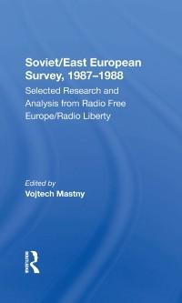 Cover Soviet/east European Survey, 1987-1988