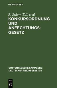Cover Konkursordnung und Anfechtungsgesetz