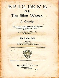 Cover Epicoene or, The Silent Woman