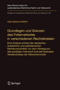 Cover Grundlagen und Grenzen des Folterverbotes in verschiedenen Rechtskreisen