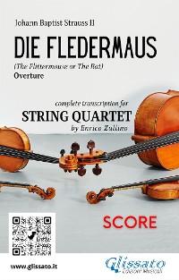 Cover Die Fledermaus (overture) string quartet score